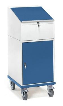 Fetra 2448 Rollpult mit Schrank und Schreibpult-Aufsatz, 150 kg