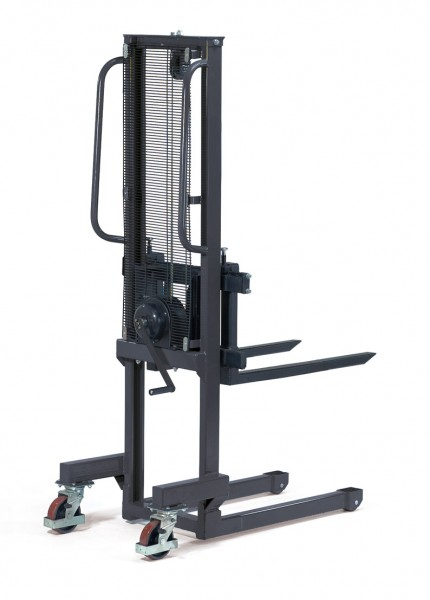 Fetra Handwinden-Stapler bis 500 kg, Hubantrieb durch Sicherheitshandwinde