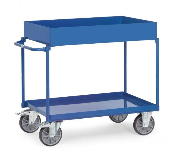 Fetra Tischwagen mit hoher und niedriger Stahlblechwanne 400 kg