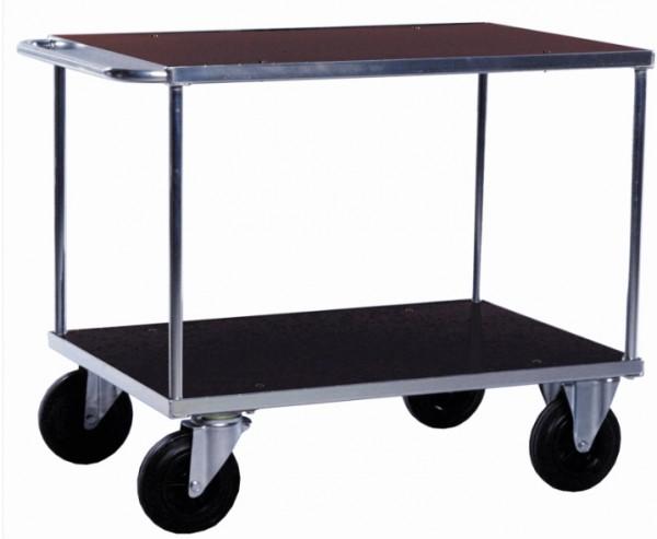 ROLLCART Tischwagen mit zwei Ladeflächen, verzinkt, 500 kg Tragkraft