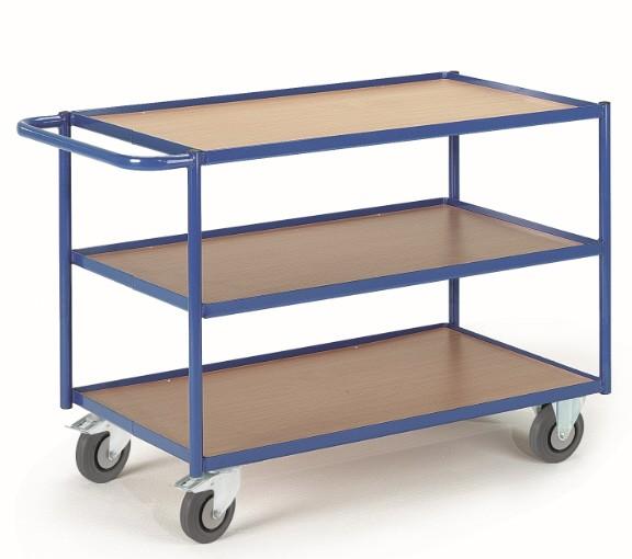 ROLLCART Tischwagen mit drei Etagen, 300 kg Tragkraft