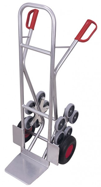 VARIOfit ap-1301 Aluminium Treppenkarre mit zwei fünfarmigen Radsternen