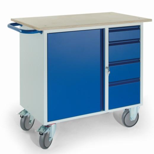 ROLLCART 07-4361 Werkstattwagen vier Schubladen, ein Stahlschrank