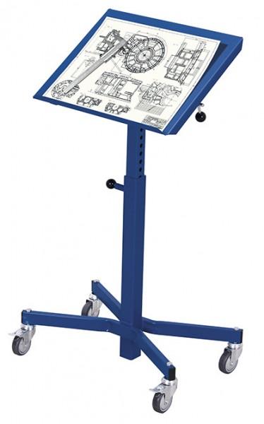 VARIOfit sw-405.002 Materialständer mit einseitigem Rand, einseitig neigbar, höhenverstellbar