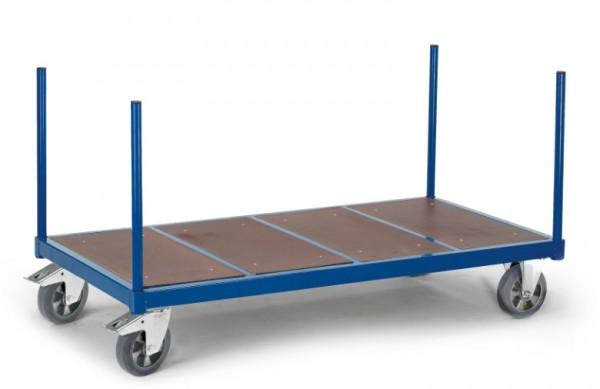 ROLLCART Rungenwagen mit Holzboden, 1200 kg Tragkraft