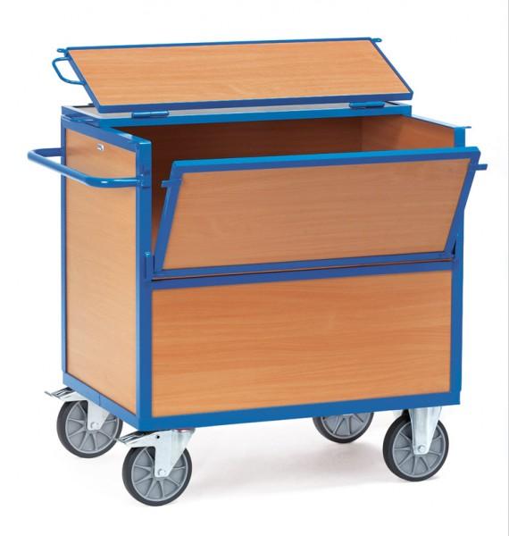 Fetra Holzkastenwagen mit Wänden, Boden und Deckel, 600 kg