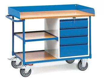 Fetra 2437 Werkstattwagen mit vier Schubladen, 400 kg