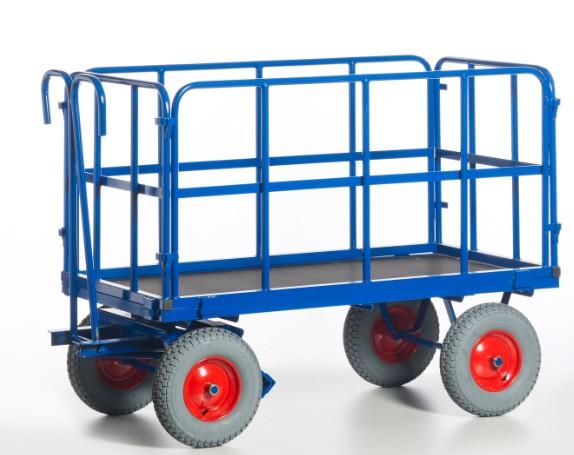 ROLLCART Handpritschenwagen, Rohrgitterwände