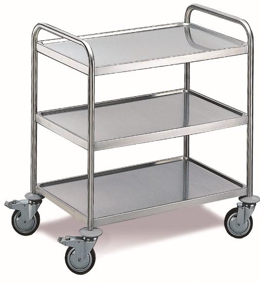 ROLLCART Tischwagen, drei Etagen, 100 kg Tragkraft