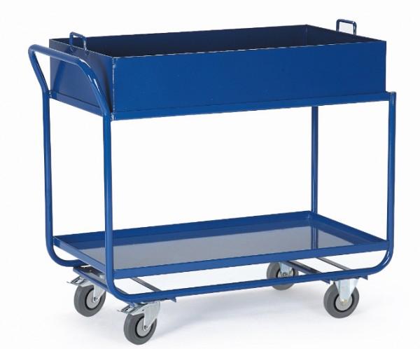 ROLLCART 06-7156 Tischwagen mit Blechwannen, 300 kg Tragkraft