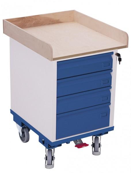 VARIOfit sw-500.015 Schubladenschrank mit einer Ladefläche, EasySTOP