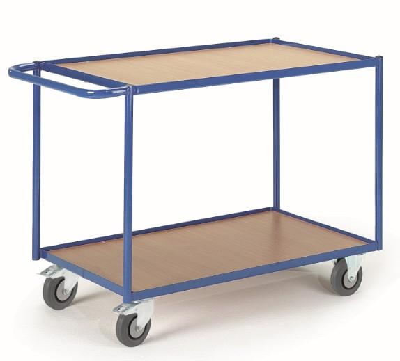 ROLLCART Tischwagen mit zwei Etagen, 300 kg Tragkraft