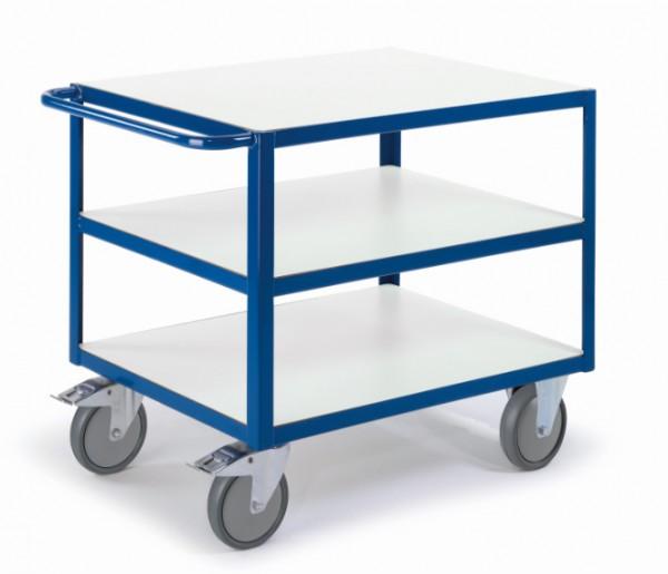 ROLLCART Großer Tischwagen mit drei Etagen, ESD