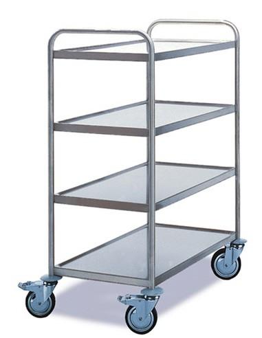 ROLLCART Tischwagen vier Etagen, 120 kg Tragkraft