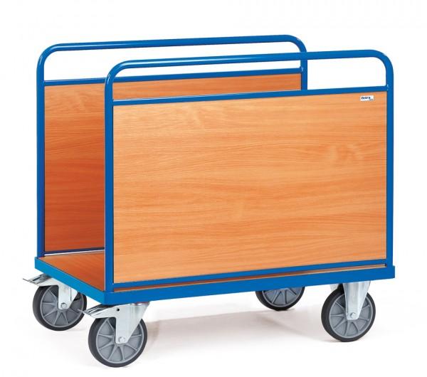 Fetra Ballenwagen mit zwei Holzwänden bis 600 kg