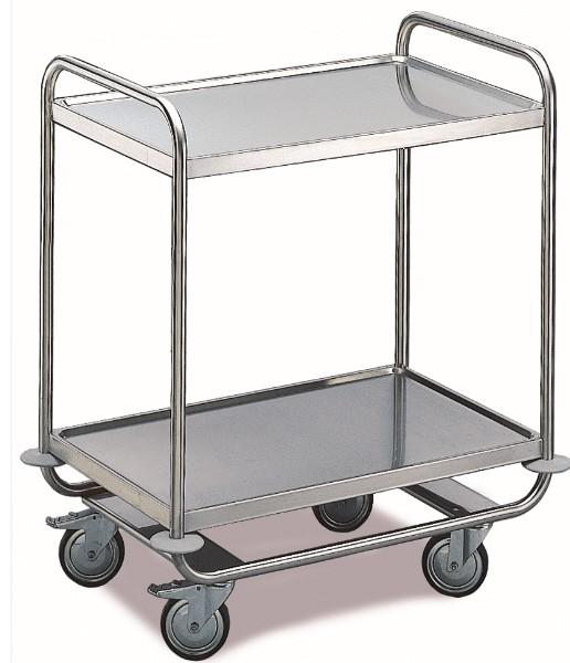 ROLLCART Schwerer Tischwagen, zwei Etagen, 120 kg Tragkraft