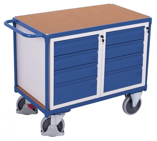 VARIOfit sw-600.619 Werkstattwagen mit einer Ladefläche und Schubladen, EasySTOP