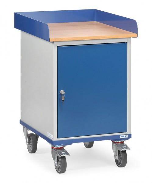 Fetra 2445 Rollschrank mit Umrandung und verschließbarem Stahlschrank, 150 kg