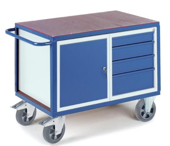 ROLLCART 07-4307-S Schwerlast-Werkstattwagen mit Schrank und Schubladen
