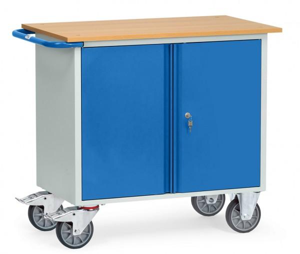 Fetra 2456 Stahlblech-Werkstattwagen mit zweitürigem Schrank, 400 kg