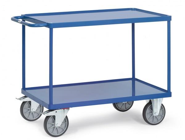 Fetra Schwerer Tischwagen mit Stahlblech-Wannen bis 600 kg