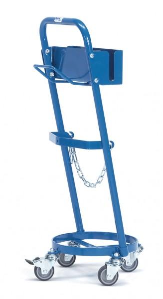 Fetra 51161 Stahlflaschen-Roller mit Haken, 80 kg, für eine Propangasflasche