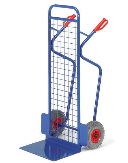 ROLLCART Große Gitter-Stapelkarre, 250 kg Tragkraft