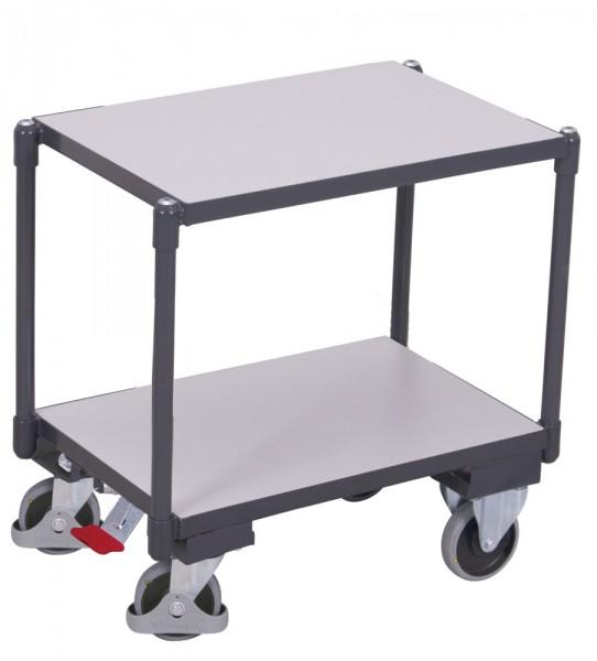 VARIOfit sw-410.546 ESD Euro-System-Roller mit zwei Ladeflächen, Baukasten-System, EasySTOP