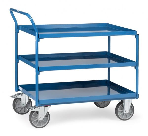 Fetra Tischwagen mit drei öldichten Stahlblechwannen 400 kg