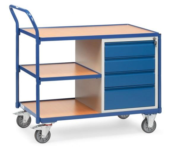Fetra 2634 leichter Werkstattwagen mit verschließbaren Schubladen, 300 kg