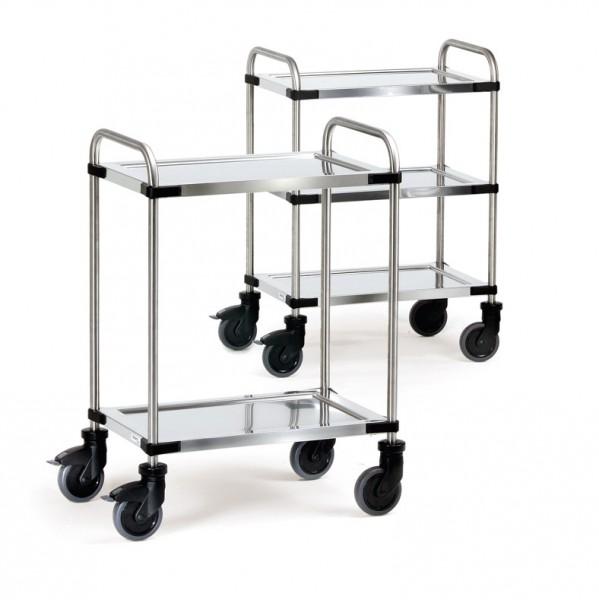 Fetra Edelstahlwagen mit Rohrschiebebügel, bis 150 kg