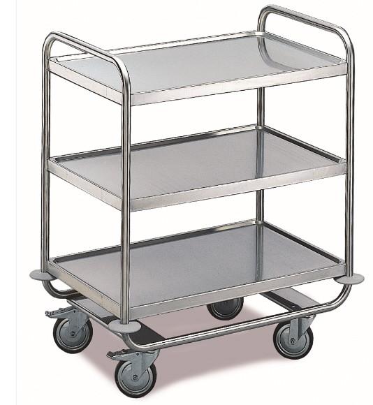 ROLLCART Schwerer Tischwagen, drei Etagen, 200 kg Tragkraft