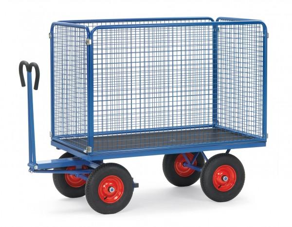 Fetra Handpritschenwagen mit Drahtgitterwänden, bis 1250 kg