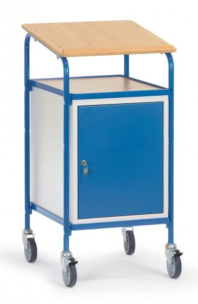 Fetra 5836 Rollpult mit Schreibfläche und Stahlschrank, 100 kg