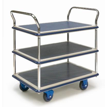 ROLLCART Tischwagen mit drei Etagen