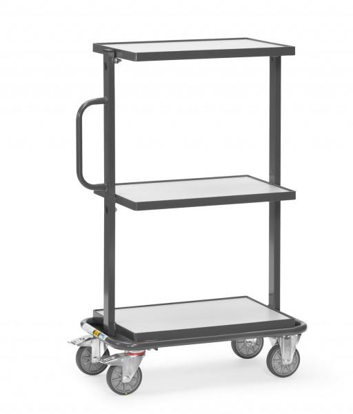 Fetra 92901 ESD-Beistellwagen mit drei Böden aus Holz, 200 kg