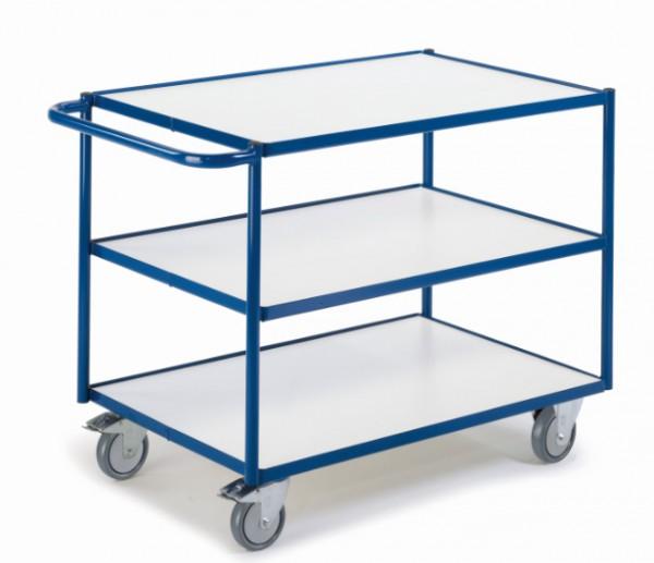 ROLLCART Tischwagen mit drei Etagen, ESD