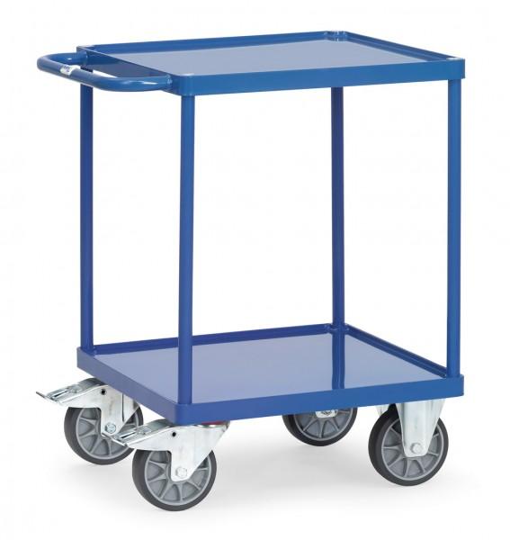 Fetra 2496W Schwerer Tischwagen mit Stahlblech-Wannen 500 kg
