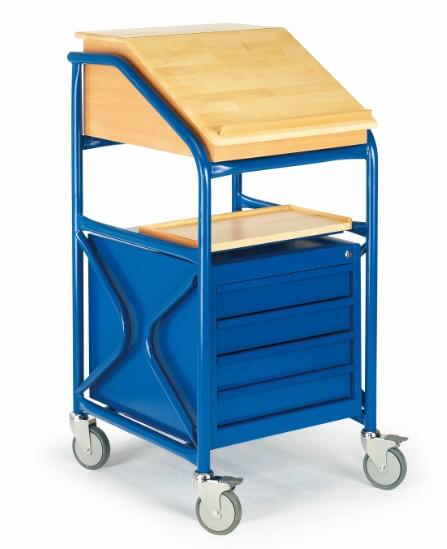 ROLLCART 09-5053 Stehpult mit Schubladenschrank