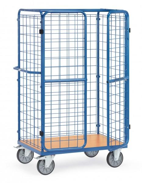Fetra Hoher Paketwagen mit Drahtgitterwänden und Doppelflügeltüren, 600 kg