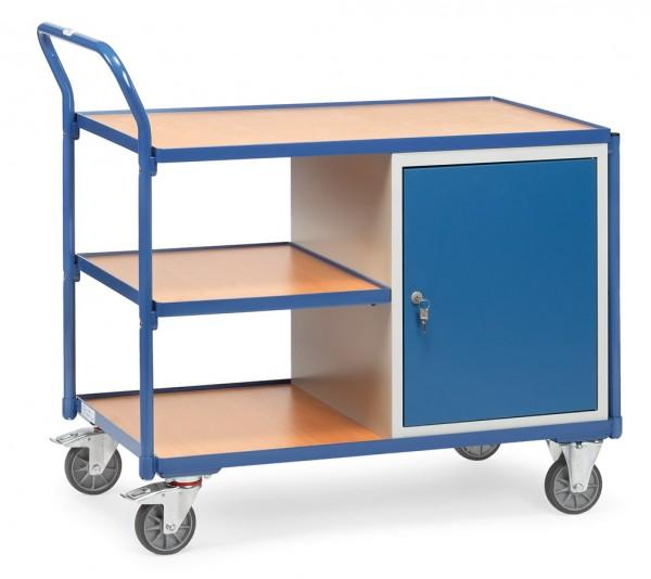 Fetra 2632 leichter Werkstattwagen mit Stahlschrank und drei Böden, 300 kg