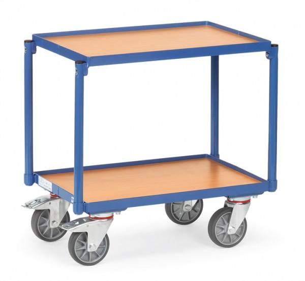 Fetra 13540 Etagen-Roller mit zwei Holzböden und Rand