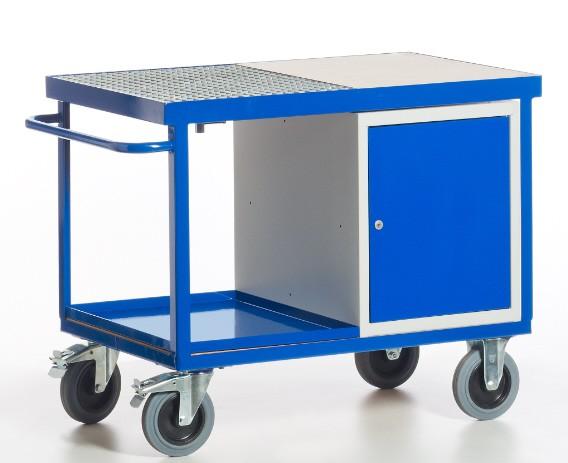 ROLLCART 07-4312 Umwelt-Werkstattwagen mit Stahlschrank