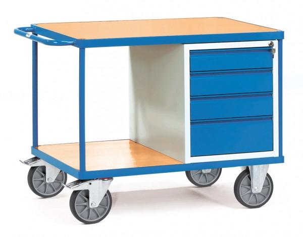 Fetra 2474 schwerer Werkstattwagen mit verschließbaren Schubladen, 600 kg