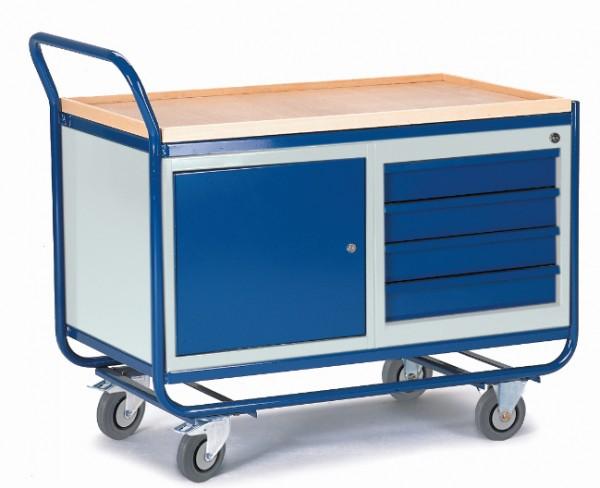 ROLLCART 07-4356 Montagewagen mit Stahl- und Schubladenschrank