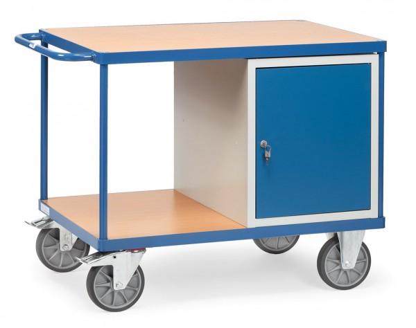 Fetra schwerer Werkstattwagen mit verschließbarem Schrank, 600 kg
