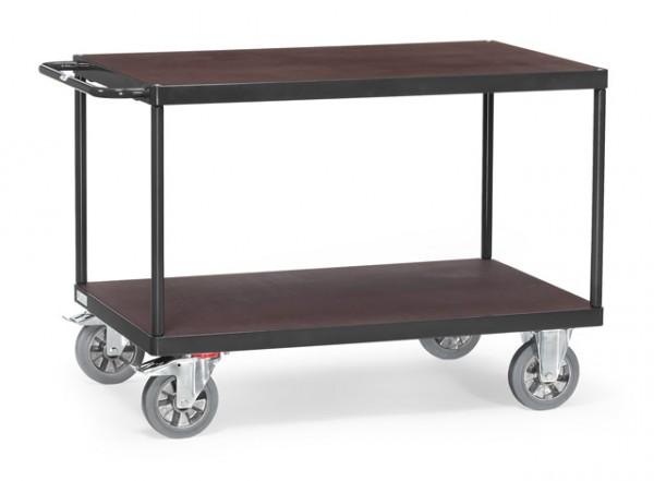 """Fetra Tischwagen """"GREY EDITION"""" 1200 kg, mit zwei Böden aus Holz"""
