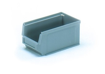 Fetra 1781 Sichtlagerkasten aus Kunststoff, Farbe grau