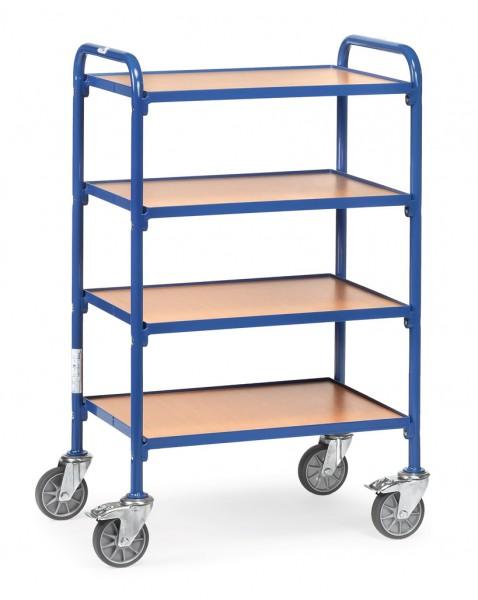 Fetra 32930 Beistellwagen mit vier Böden aus Holz, 250 kg