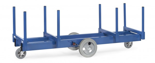 Fetra Langmaterial-Wagen, bis 3000 kg, mit Rungen 500 mm lang